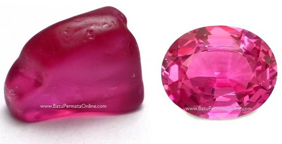 Batu Safir merah muda (Pink Safir)