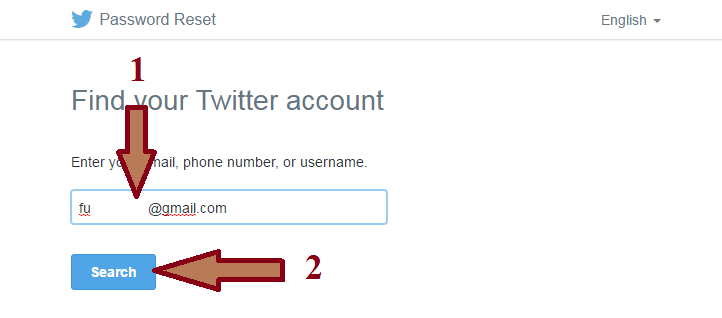 Forgot Password Twitter - Tutorial