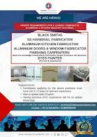 ALUMINIUM & KITCHEN INDUSTRY VACANCIES - KUWAIT