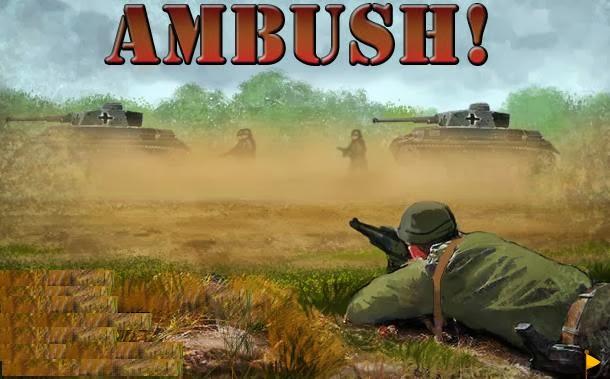 لعبة الكمين الحربية الاستراتيجية اون لاين Ambush game online