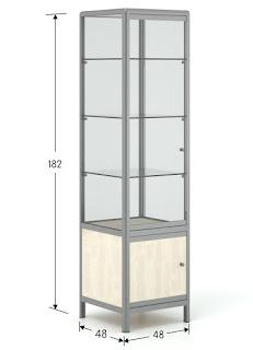 Βιτρίνα καταστήματος - Πύργος με ντουλάπι
