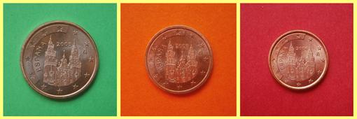 5, 2 y 1 centimos España