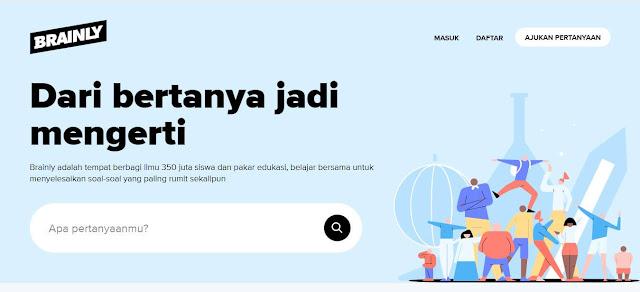 Printscreen situs brainly 25 Lebih Daftar Aplikasi Online Class untuk Belajar di Rumah FAVORIT Siswa