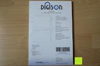 Verpackung hinten: DIGISON DS-9500 LCD 12 Zoll Writing Tablet / Grafiktablet / Schreibtafel (Schwarz, inkl. Stift)
