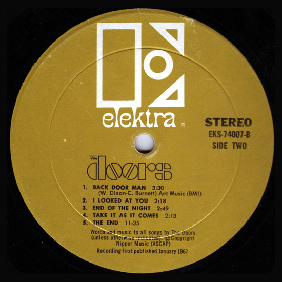 The Doors, first album 1967, side B