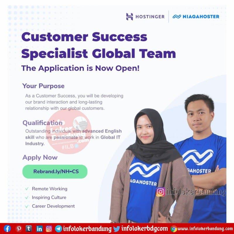 Lowongan Kerja Customer Success Specialist Global Team Bandung April 2021