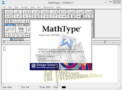 Free Download MathType v6.9 Full