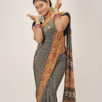 Mahathi in Black Saree Photo Gallery