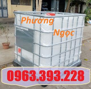 Bồn nhựa 1 khối, tank đựng hóa chất, tank nhựa IBC 1000 Lít, thùng nhựa vuông có 647ccdfcbe3d5c63052c