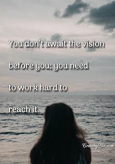 CravingBiz Motivational Quote on Vision