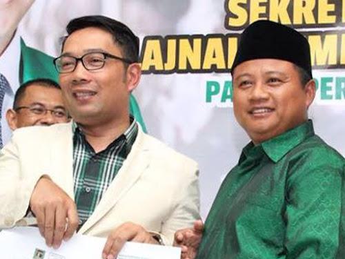 Ridwan Kamil dan Uu Ruzhanul