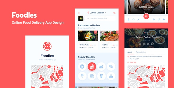 Food Delivery Mobile App Design Figma Template