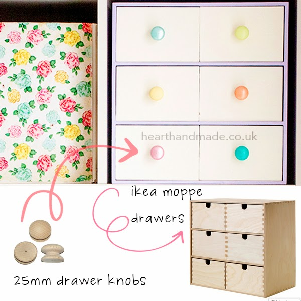 Ikea moppe drawer makeover