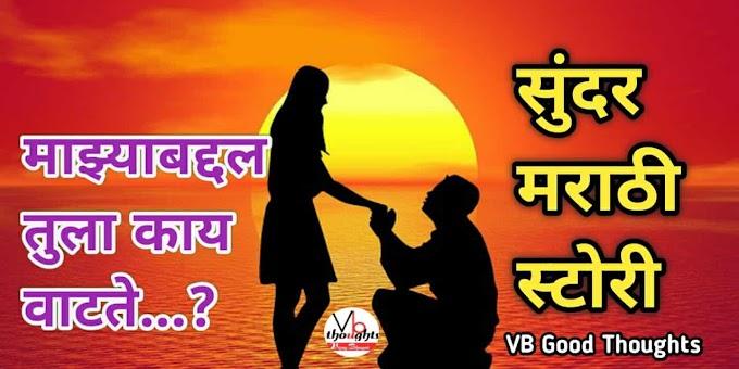 माझ्याबद्दल तुला काय वाटते...? - नवरा - बायको - Marathi Story