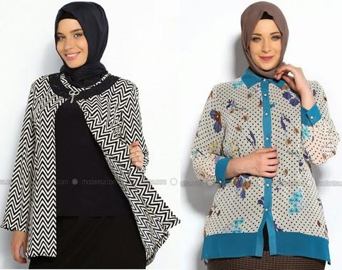 model baju muslim batik orang gemuk