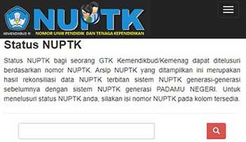 Cek Status NUPTK Aktif
