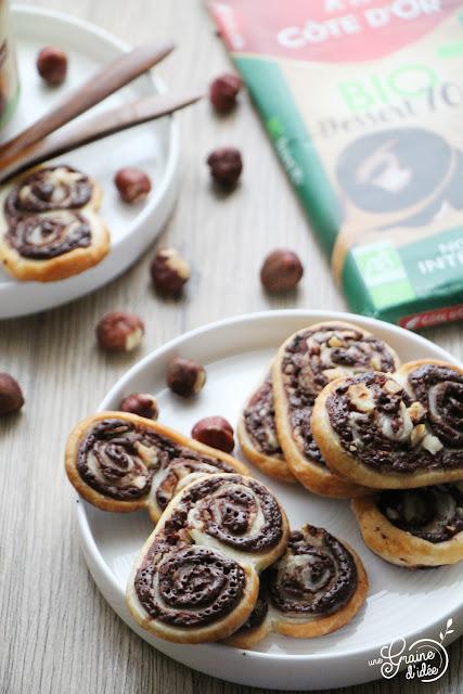 Palmiers Chocolat Noisette Degustabox Recette Côte d'Or