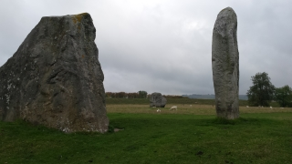 Avebury - The Cove - oriented to midsummer sunrise