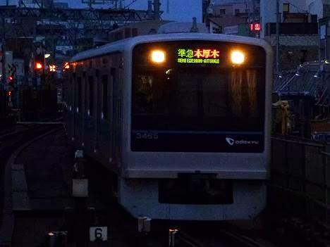 小田急線 準急 本厚木行き 1000形(平日4本運行)