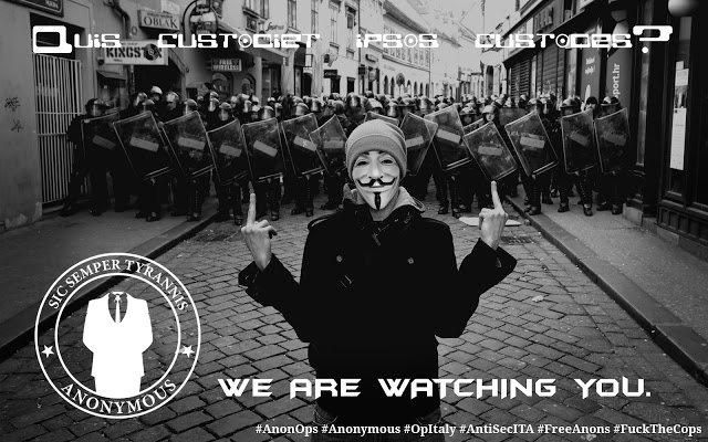 Anonymous Hackers leaks 1.35GB Italian State Police Data