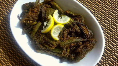 Scrumptious Stuffed Okra / Bharela Bhinda