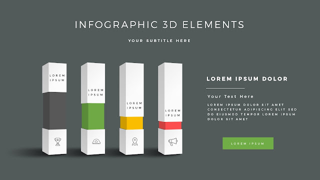 Fully Editable 3D Design Elements for PowerPoint Slide7