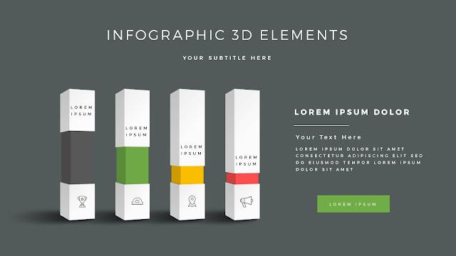 Fully Editable 3D Design Elements for PowerPoint Slide7