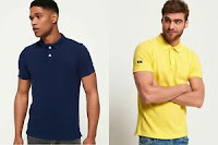 Mens Superdry Polo Shirts Selection
