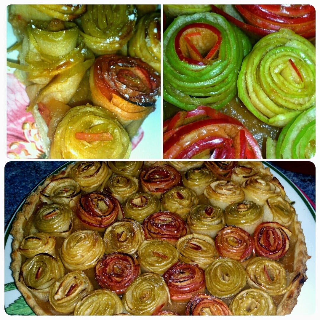Le blog de cata tarte aux pommes bouquet de roses - Tarte aux pommes compote maison ...