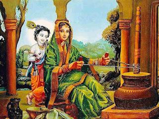 Lord Krishna With Yasoda Mata, krishna with maiya yasoda,