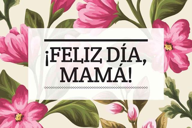 Feliz día de la madre, imagen con flores