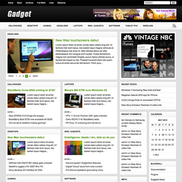 Gadget Wordpress Theme
