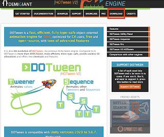 DOTween Resmi İnternet Sitesi