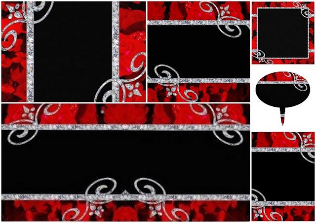 Diamantes y Rosas Rojas: Mini Kit para Imprimir Gratis.