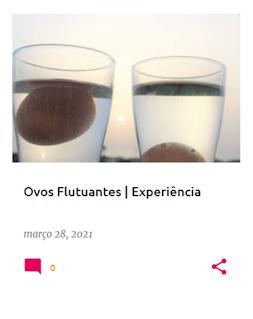 Dois copos com água, um com um ovo a flutuar e outro com um ovo afundado