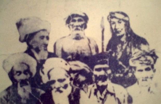 Syekh Yusuf, Lasinrang, Arung Palakka.  Bawah, KH. Harun, Petta Barang, Imam Lapeo, Datu Sangkala