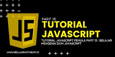 Belajar Mengenai DOM Javascript
