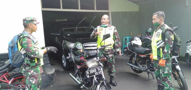 Dandim 0702 Purbalingga Patroli Motor Sampai Pelosok Desa Pantau Upaya Pencegahan Corona