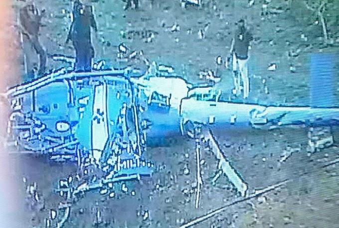 Especialistas apontam problema no rotor de cauda de helicóptero que caiu no sábado