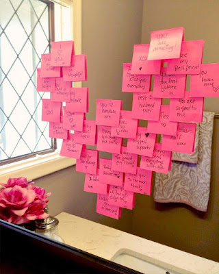 regalo de corazón de notas para san valentin