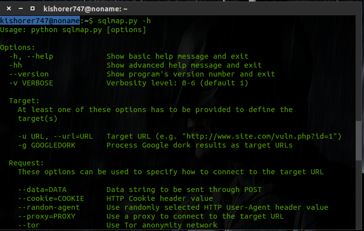 Using sqlmap to find vulnerable databases and dump data from those