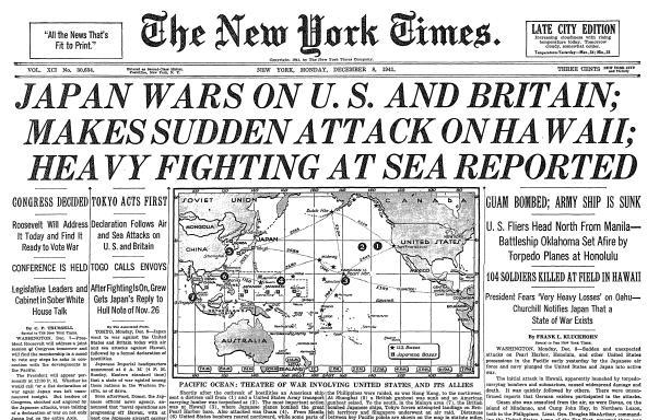 NY Times 8 December 1941 worldwartwo.filminspector.com