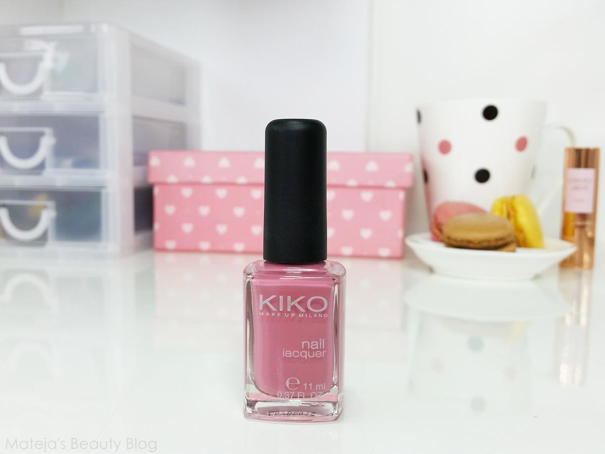 Kiko Nail Lacquer 375 Bois de Rose - Mateja\'s Beauty Blog