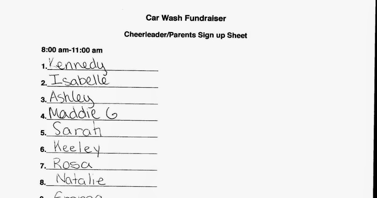 JD Cheer: Car Wash sign ups- please make sure you have