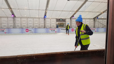 Manchester Ice Rink at Media City being swept once an hour