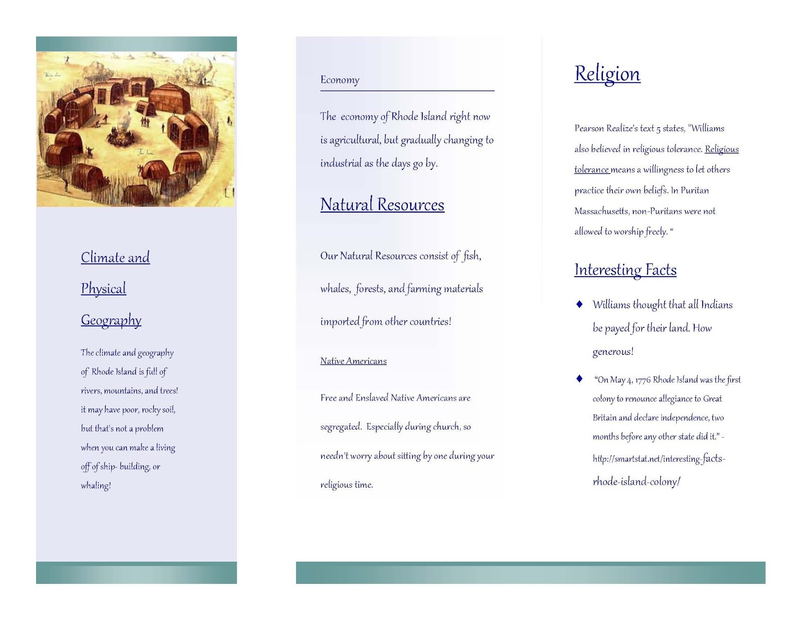 Travel Brochure Examples For Middle School