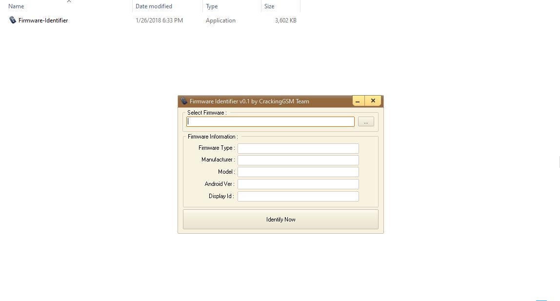 Firmware Identifier v0.1 By CrackingGSM Team