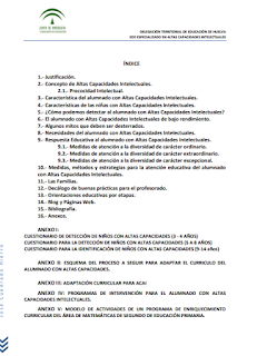 RESPUESTA EDUCATIVA AL ALUMNADO CON ALTAS CAPACIDADES