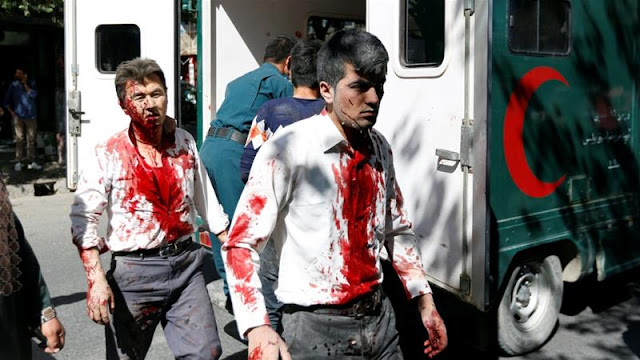 #Kabul suicide attack: Huge blast rocks diplomatic district killed 12, more than hundreds wounded