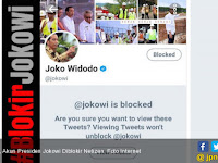 Heboh, Akun Presiden Jokowi Diblokir Netizen